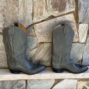 Tony Lama gray cowboy boots, size 10